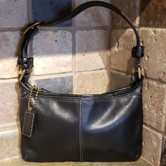 Coach Handbags - Coach Black Leather Shoulder Handbag